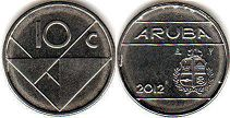coin Aruba 10 cents 2012