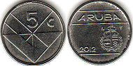 coin Aruba 5 cents 2012