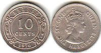 coin Belize 10 cents 1976
