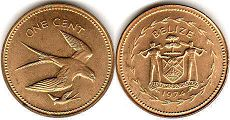 coin Belize 1 cent 1974