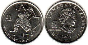coin canadian commemorative coin 25 cents 2009