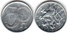 coin Czech 50 haleru 1993