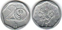 coin Czech 20 haleru 2001