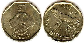coin Fiji 1 dollar 2012