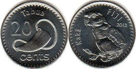 coin Fiji 20 cents 2012