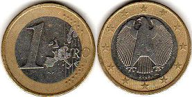 coin Germany 1 euro 2002
