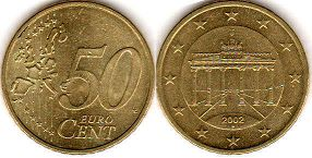 coin Germany 50 euro cent 2002