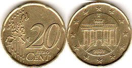 coin Germany 20 euro cent 2002