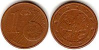 coin Germany 1 euro cent 2002
