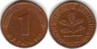 coin Germany 1 pfennig 1977
