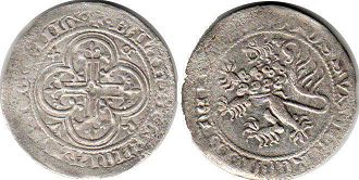 coin Thuringia 1 groschen ND (1390-1393)