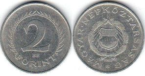 coin Hungary 2 forint 1963