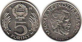 coin Hungary 5 forint 1988