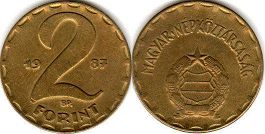 coin Hungary 2 forint 1988