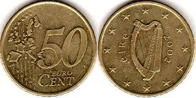 coin Ireland 50 euro cent  2002