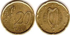 coin Ireland 20 euro cent  2003