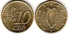 coin Ireland 10 euro cent  2003