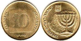 coin Israel 10 agorot 2010