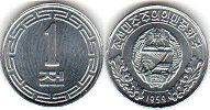 coin North Korea 1 chon 1959