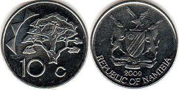 coin Namibia 10 cents 2009