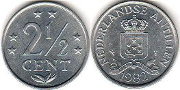 coin Netherlands Antilles 2.5 cents 1982