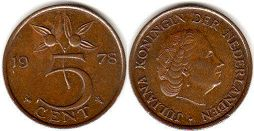 coin Netherlands 5 cents 1978