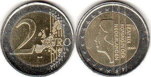 coin Netherlands 2 euro 2000