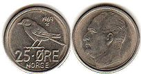 coin Norway 25 ore 1969