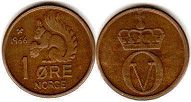 coin Norway 1 ore 1966