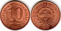 coin Philippines 10 centimos 2006