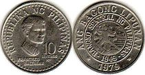 coin Philippines 10 centimos 1979