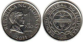 coin Philippines 1 piso 2011