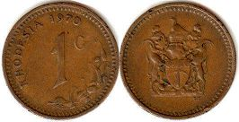 coin Rhodesia 1 cent 1970