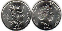 coin Solomon Islands 10 cents 2012
