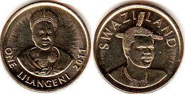 coin Swaziland 1 lilangeni 2011
