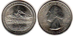 coin US commemorative coin 1/4 dollar 2010 quarter National Parks - Mount Hood