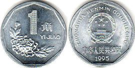 coin chinese 1 chiao 1995
