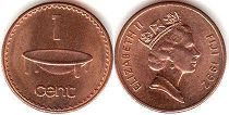 coin Fiji 1 cent 1992
