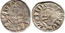 coin Besancon denier ND (14-15 century)