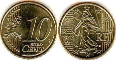 coin France 10 euro cent 2012