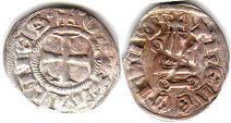 coin Athens denier ND (1280-1287)
