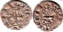 coin Achaea denier ND (1333-1364)