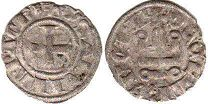 coin Achaea denier ND (1297-1301)