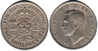 coin UK coin 2 shillings 1948