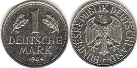 coin Germany 1 mark 1984