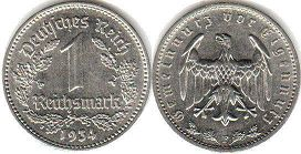 coin Nazi Germany 1 mark 1934