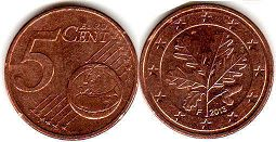 coin Germany 5 euro cent 2013