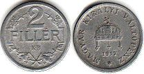 coin Hungary 2 filler 1917