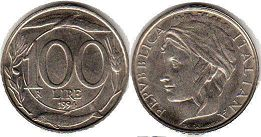 coin Italy 100 lire 1994