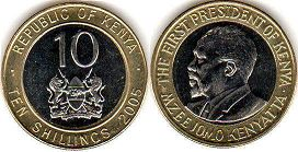 coin Kenya 10 shillings 2005